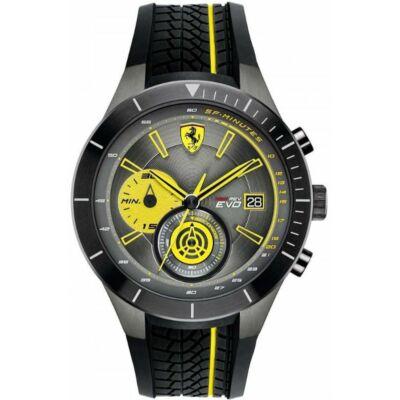 Ferrari óra - Red Rev Evo II Chrono fekete-sárga
