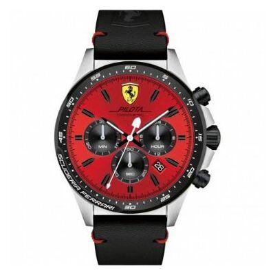 Ferrari óra - Pilota Chrono piros