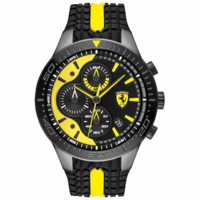Ferrari óra - Red Rev Chrono fekete-sárga
