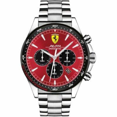 Ferrari óra - Pilota Steel Chrono piros