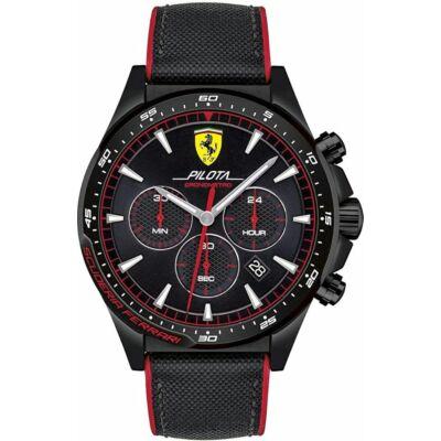 Ferrari óra - Pilota Chrono fekete-piros