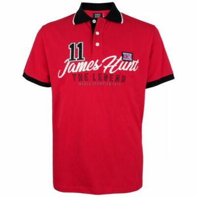 James Hunt galléros póló - The Legend