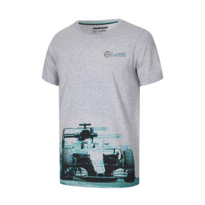 Mercedes AMG Petronas póló - F1 Car Graphic szürke