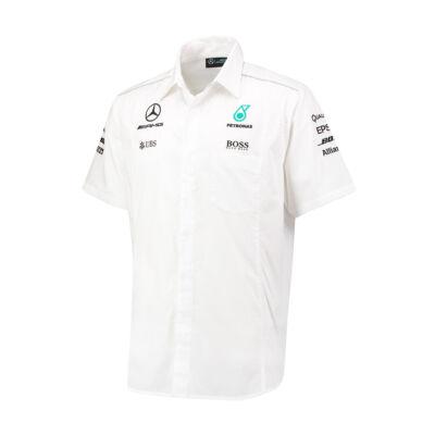 Mercedes AMG Petronas rövid ujjú ing - Team Line White