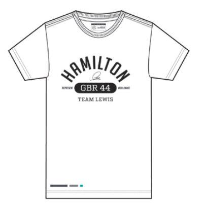 Mercedes AMG Petronas póló - Hamilton Graphic fehér