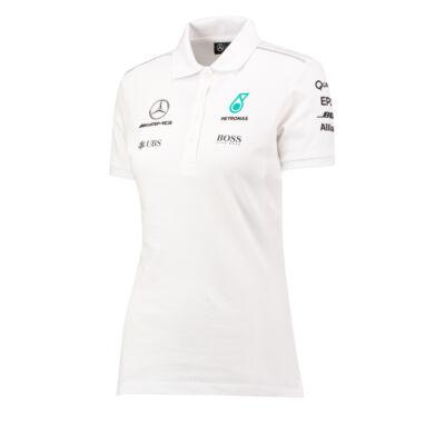 Mercedes AMG Petronas női galléros póló - Team White