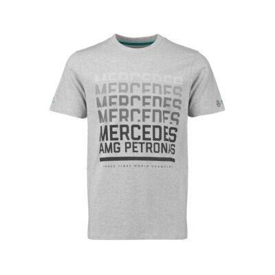 Mercedes AMG Petronas póló - Team Logo Graphic szürke