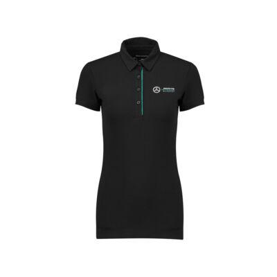 Mercedes AMG Petronas női galléros póló - Team Logo fekete