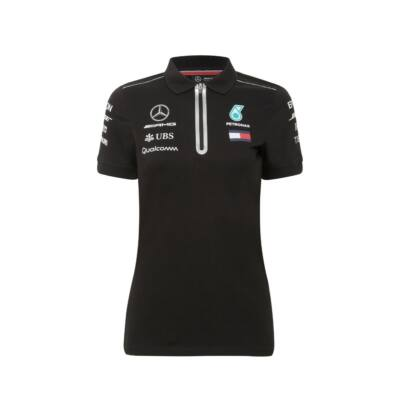 Mercedes AMG Petronas női galléros póló - Team Black