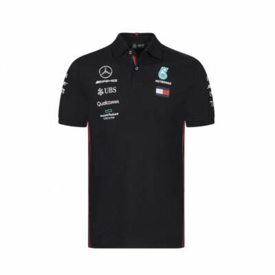 Mercedes AMG Petronas galléros póló - Team Line Black