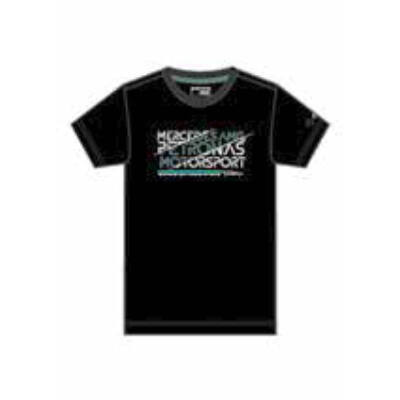 Mercedes AMG Petronas póló - Team Logo Graphic fekete