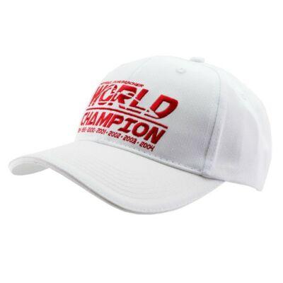Schumacher sapka - World Champion fehér