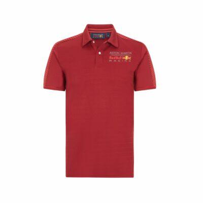 Red Bull Racing galléros póló - Duocolor piros