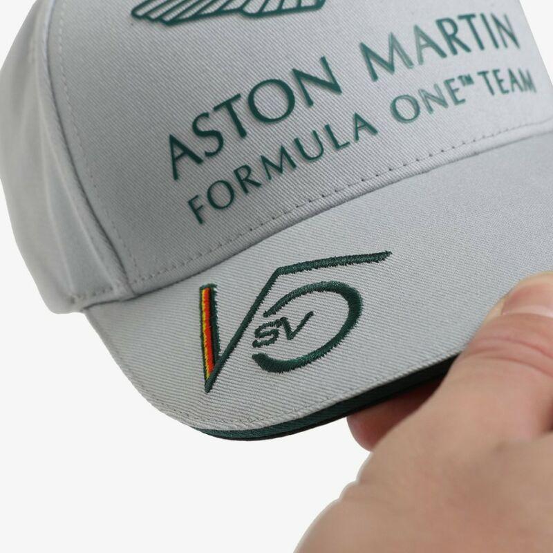 Aston Martin gyerek sapka - Sebastian Vettel szürke