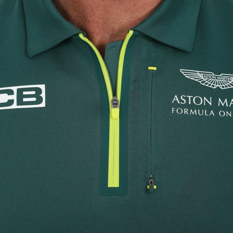 Aston Martin galléros póló - Team