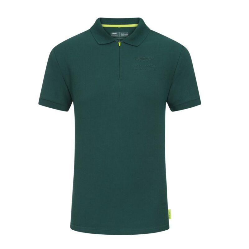 Aston Martin galléros póló - Team Logo zöld