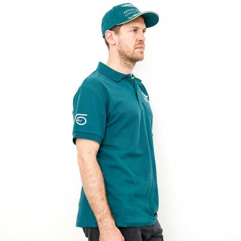 Aston Martin galléros póló - Sebastian Vettel