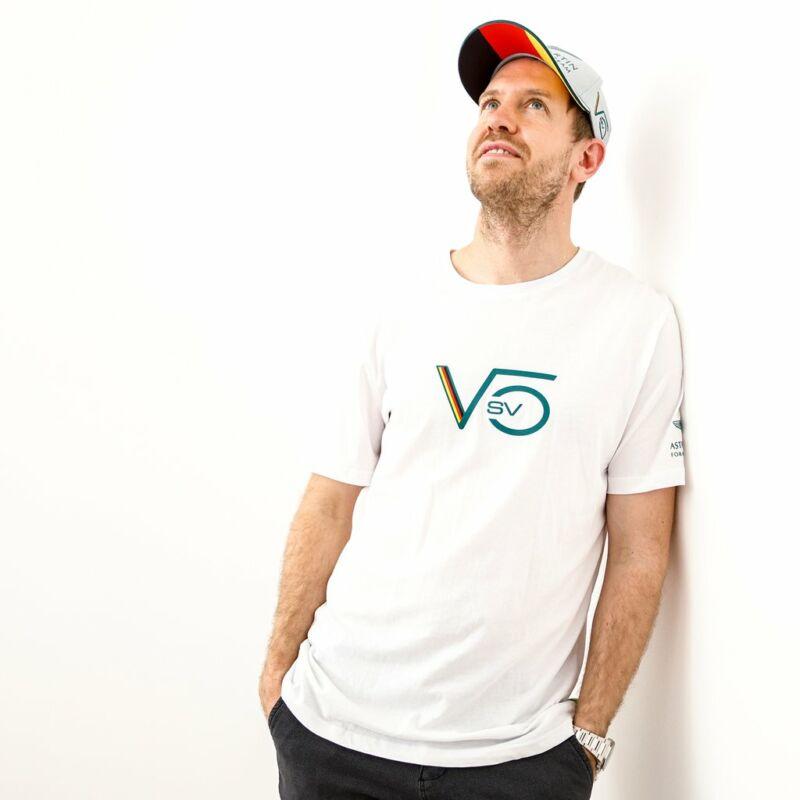 Aston Martin póló - Sebastian Vettel fehér