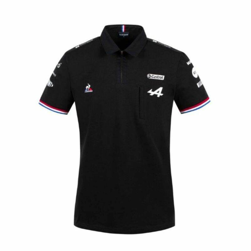 Alpine galléros póló - Team Black