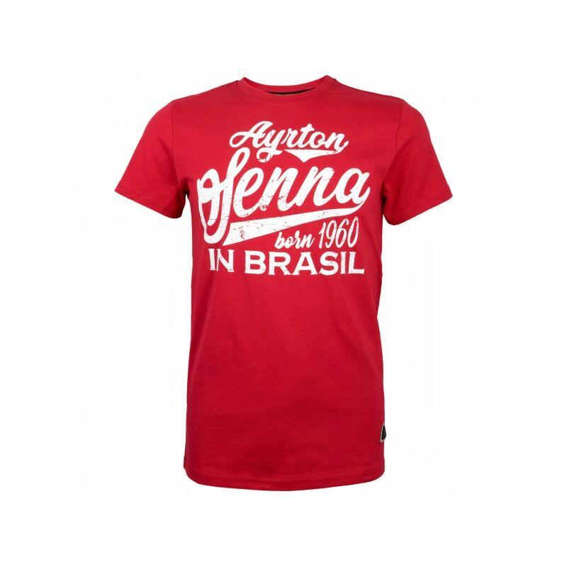 Senna póló - Born in Brasil piros