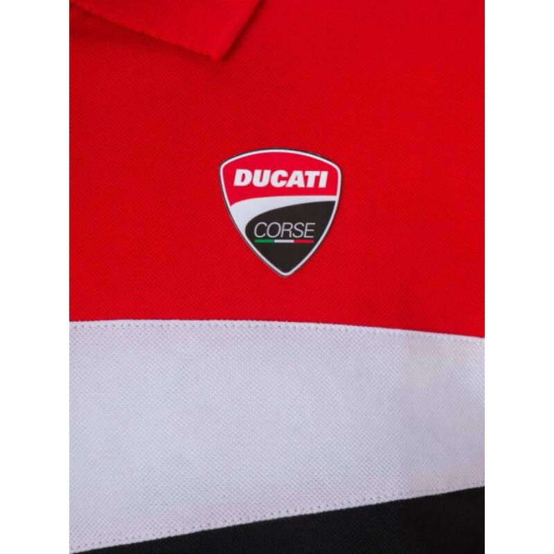 Ducati galléros póló - Small Logo Stripes