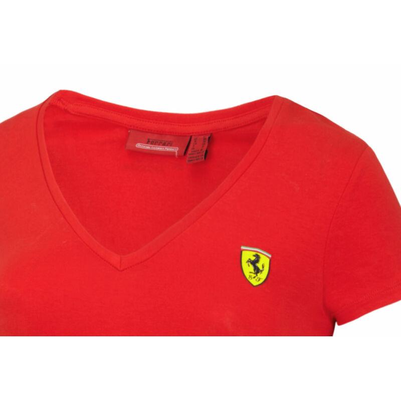 Ferrari top - Scudetto V Neck, piros