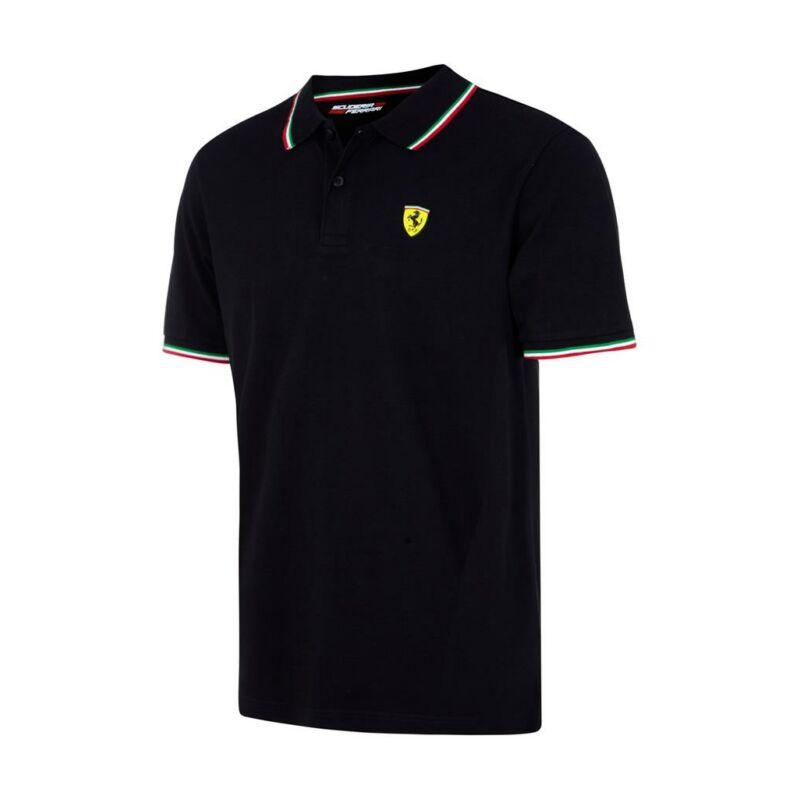 Ferrari galléros póló - Tricolore fekete