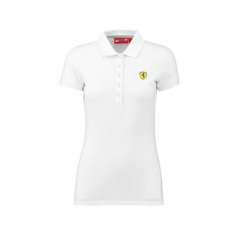 Ferrari női galléros póló - Scudetto fehér