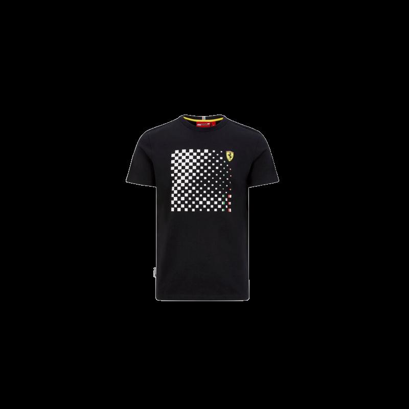 Ferrari póló - Checkered Graphic fekete