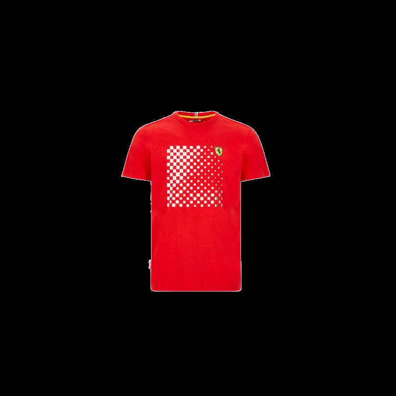 Ferrari póló - Checkered Graphic piros