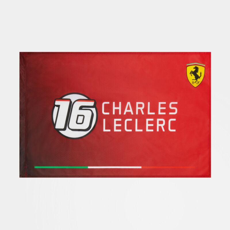 Ferrari zászló - Charles Leclerc