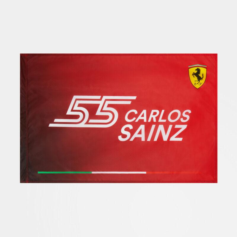 Ferrari zászló - Carlos Sainz