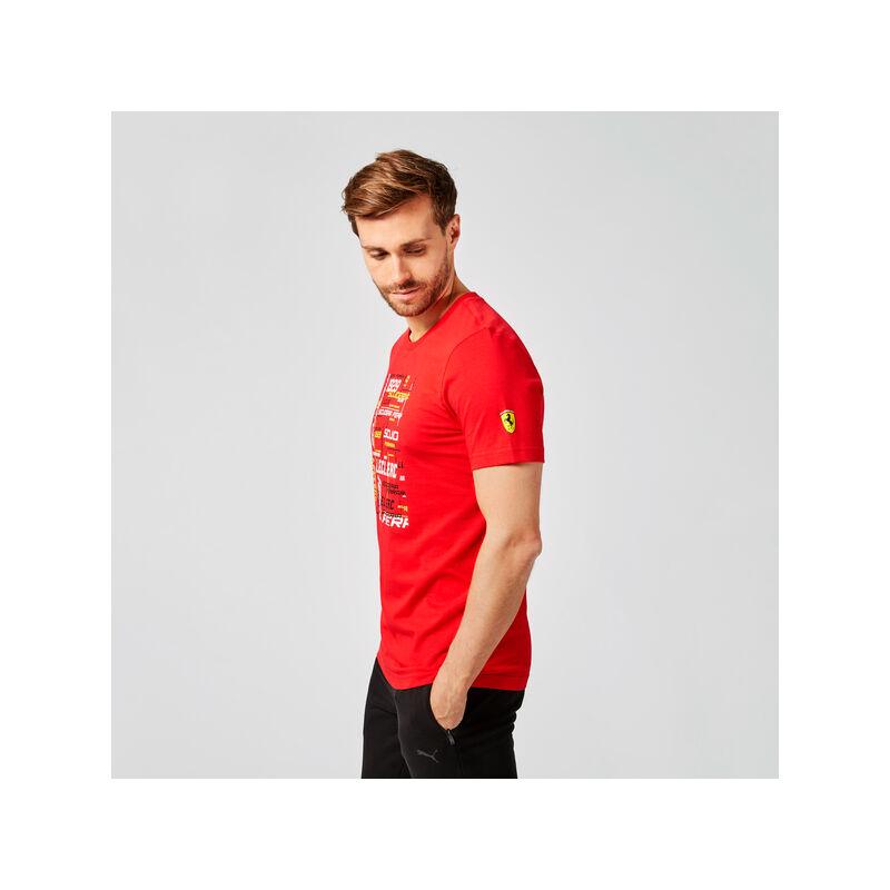 Ferrari póló - Leclerc Graphic piros