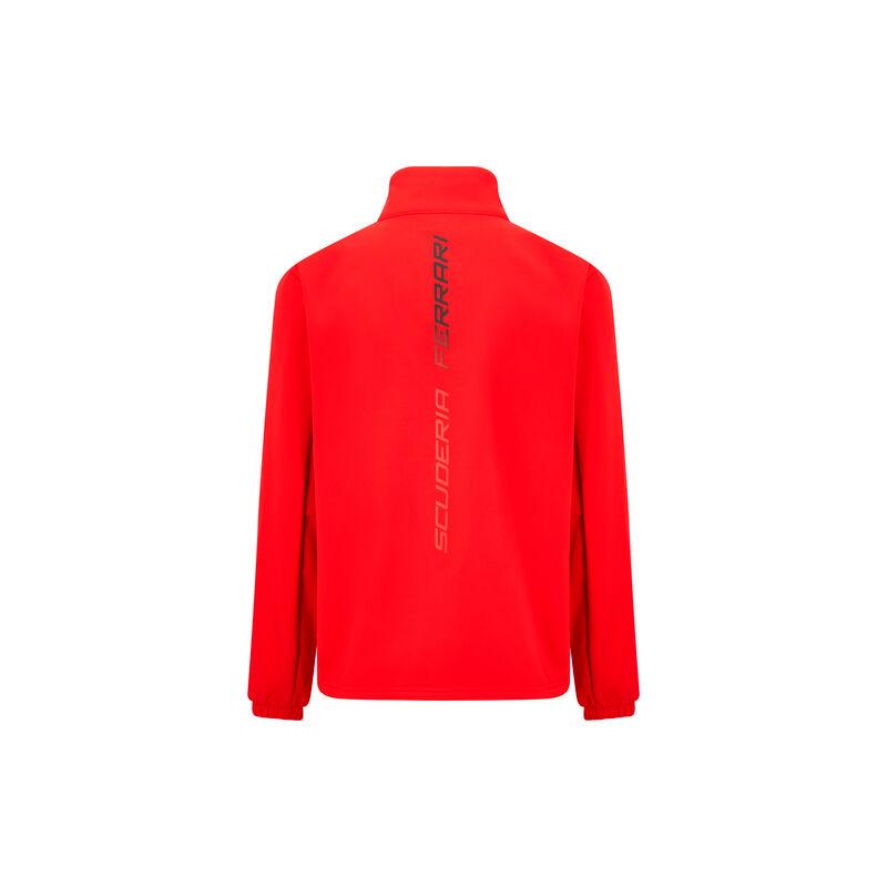 Ferrari softshell pulóver - Scudetto piros