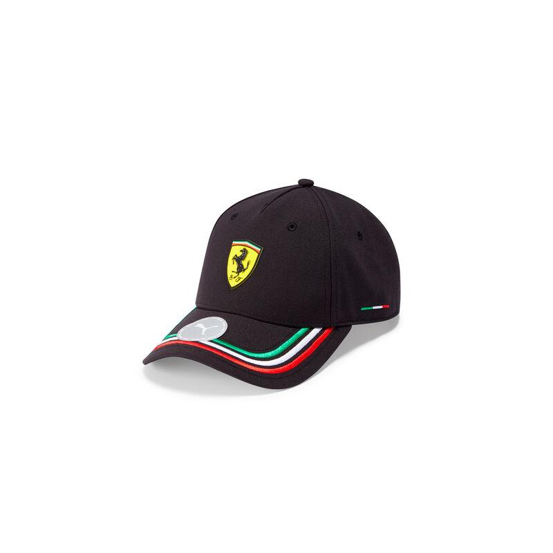 Ferrari sapka - Italy Stripes fekete