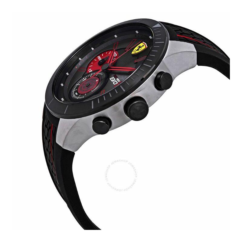 Ferrari óra - Red Rev Evo II Chrono fekete-piros