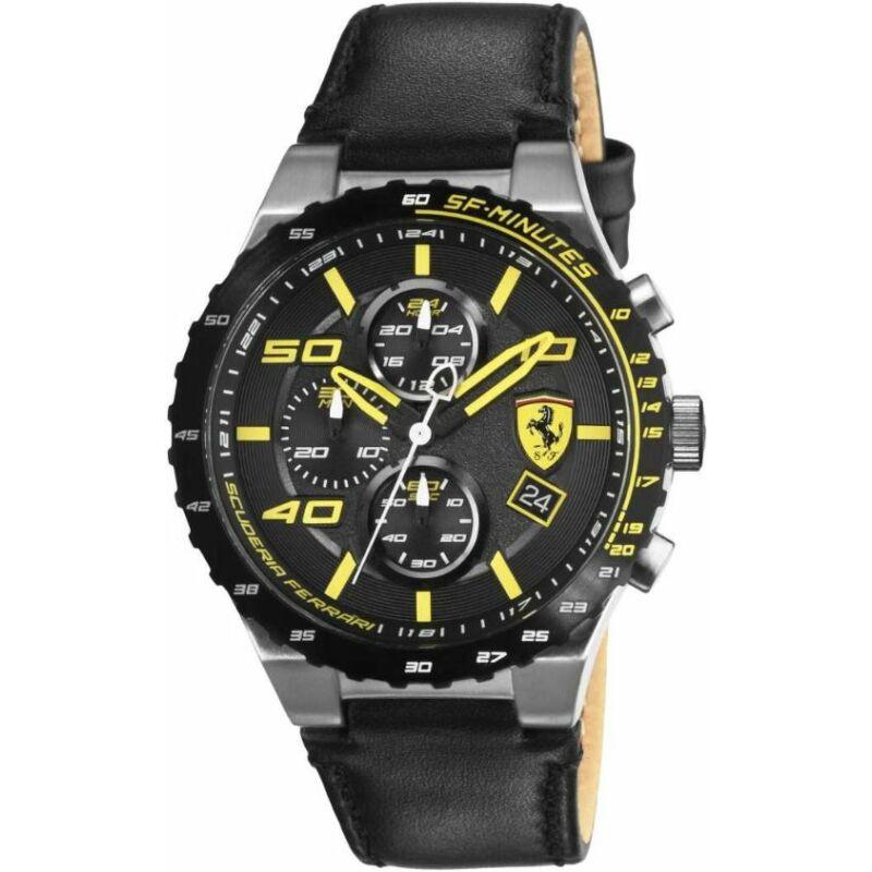 Ferrari óra - Speciale Evo Chrono fekete-sárga