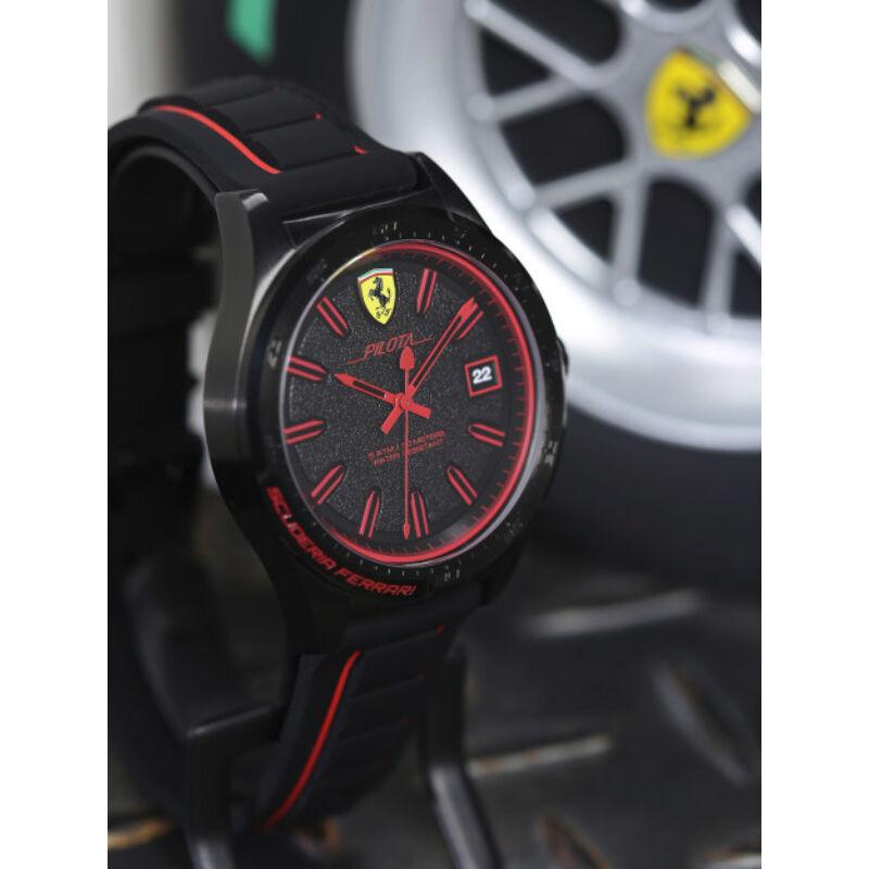 Ferrari óra - Pilota fekete-piros