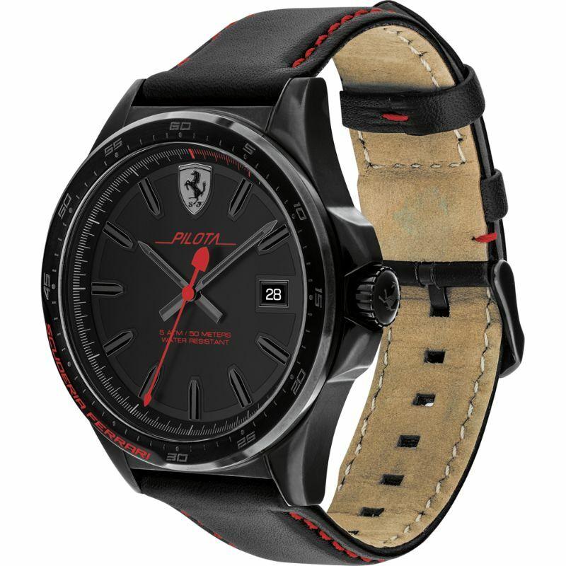 Ferrari óra - Pilota Leather fekete