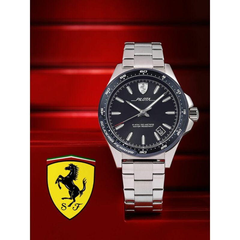 Ferrari óra - Pilota Steel fekete