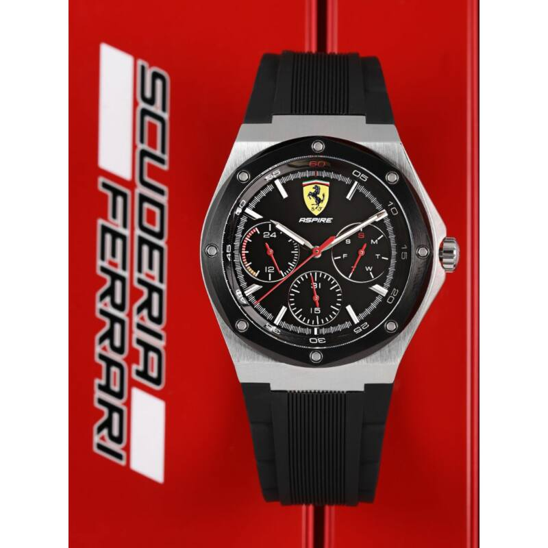 Ferrari óra - Aspire Chrono fekete-ezüst