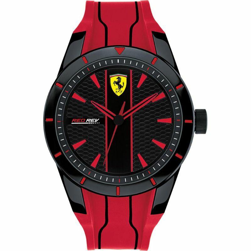 Ferrari óra - Red Rev Evoluzione piros-fekete
