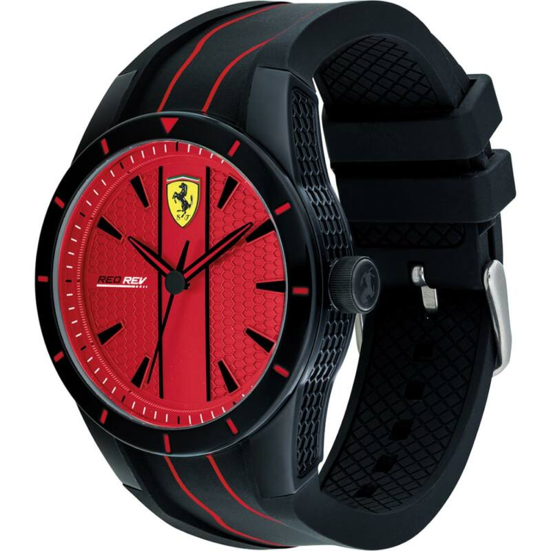 Ferrari óra - Red Rev Evoluzione fekete-piros