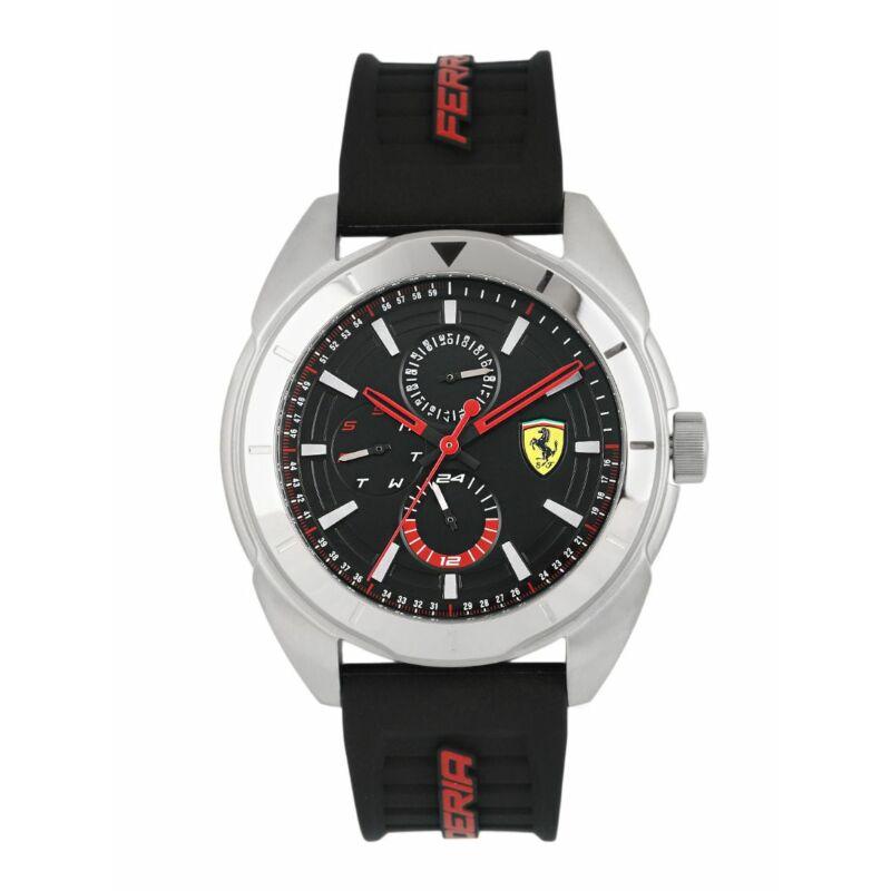 Ferrari óra - Forza Chrono ezüst-fekete