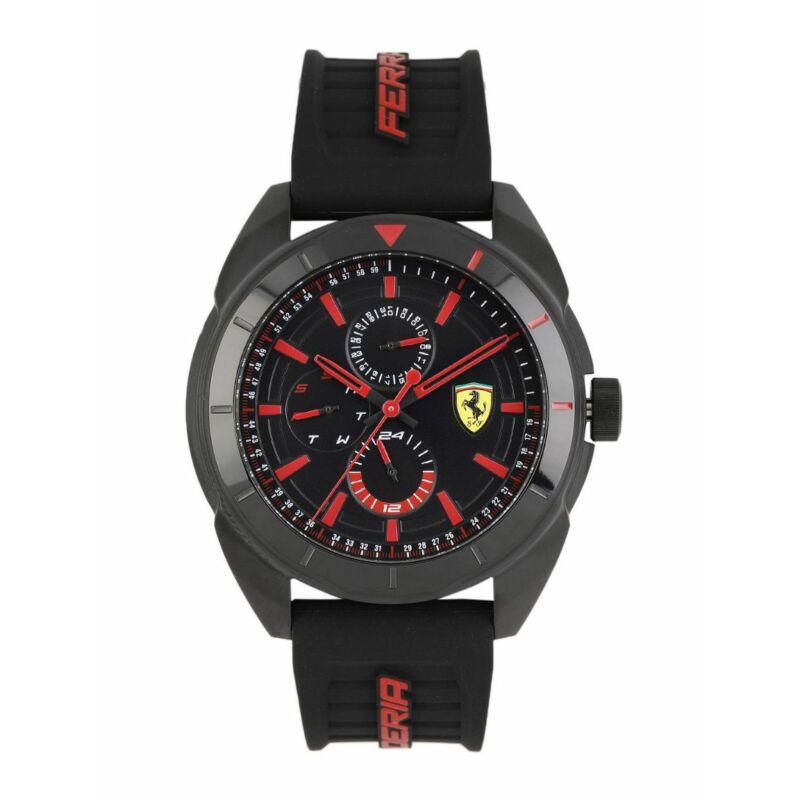 Ferrari óra - Forza Chrono fekete-piros