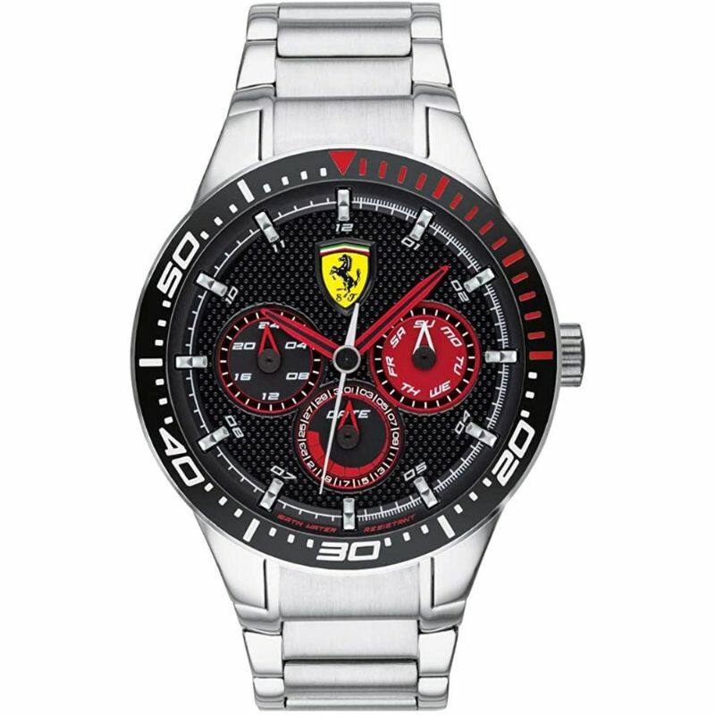 Ferrari óra - Red Rev Chrono Steel