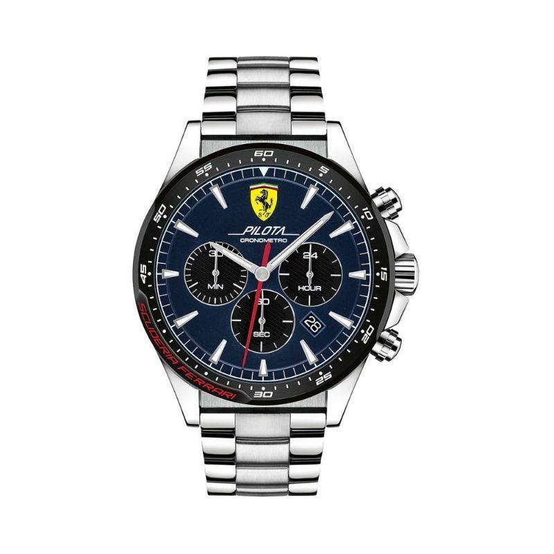 Ferrari óra - Pilota Steel Chrono kék