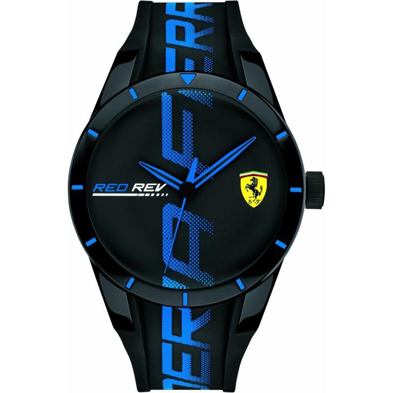 Ferrari óra - Red Rev Large Logo fekete-kék