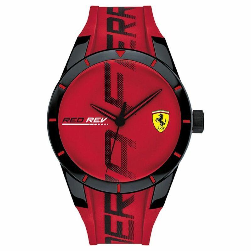 Ferrari óra - Red Rev Large Logo piros-fekete