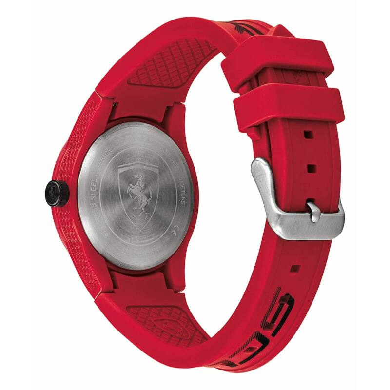 Ferrari óra - Red Rev Large Logo piros